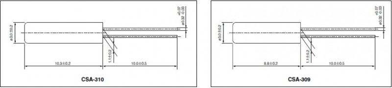 西铁城晶振,石英晶体谐振器,csa-310晶振,西铁城表晶